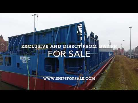 Shipsforsale Sweden 8100 DWT ice going Ro-Ro Timber stone carrier, 20 mm deck.