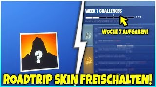 😱 ROADTRIP SKIN GRATUIT! 🏆 WEEK 7 CHALLENGE - Fortnite Battle Royale
