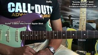 Suicide Blonde INXS Electric Guitar Lesson Danelectro Filthy Rich Tremolo Pedal @EricBlackmonGuitar