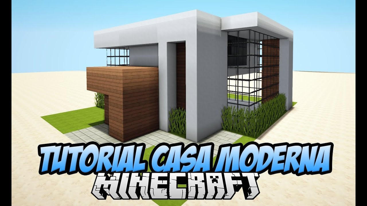 Tutoriais minecraft como construir uma casa moderna youtube - Construir casa moderna ...