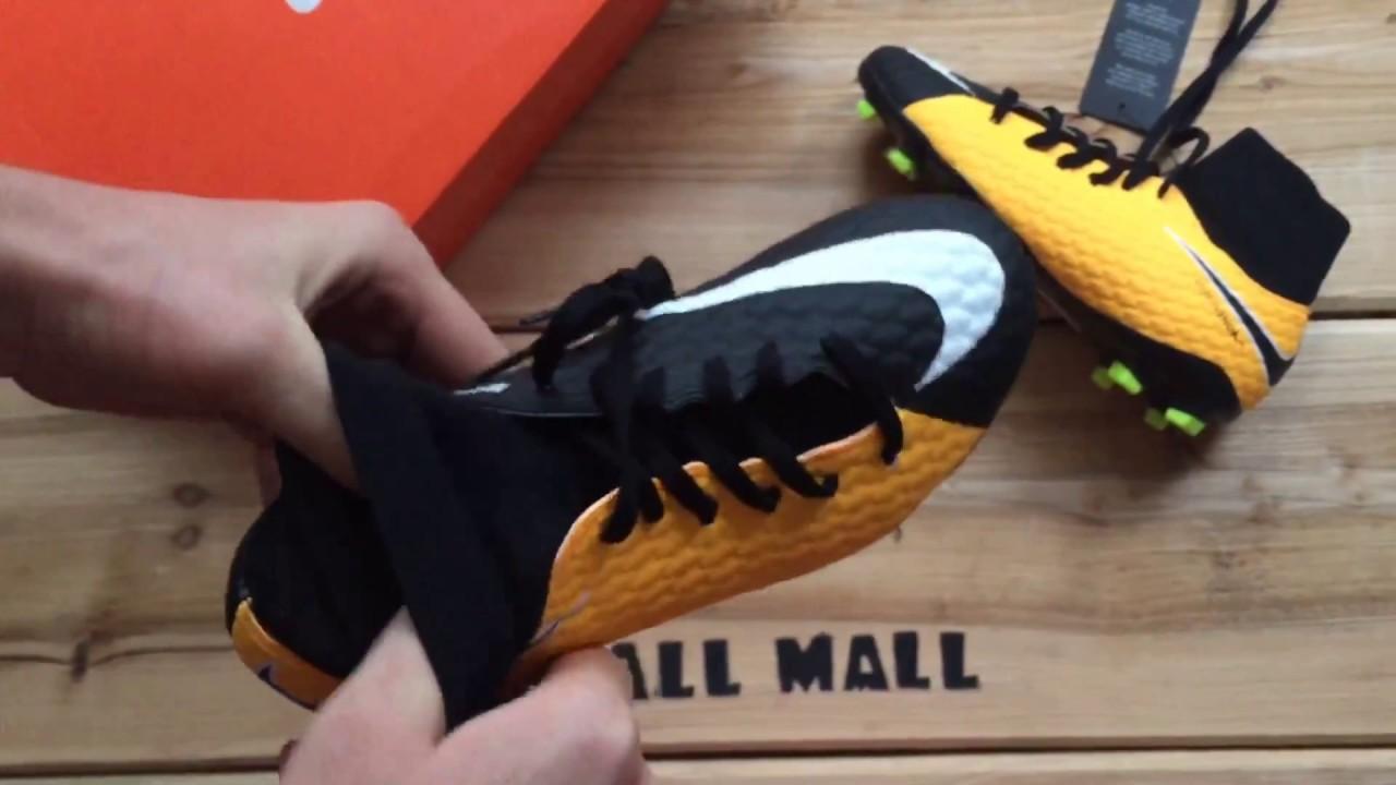 c2b7b178b Обзор бутс Nike HyperVenom Phelon III DF JR FG 917772-801 - YouTube