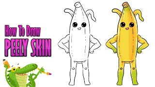 How to draw Peely Banana skin fortnite season 8