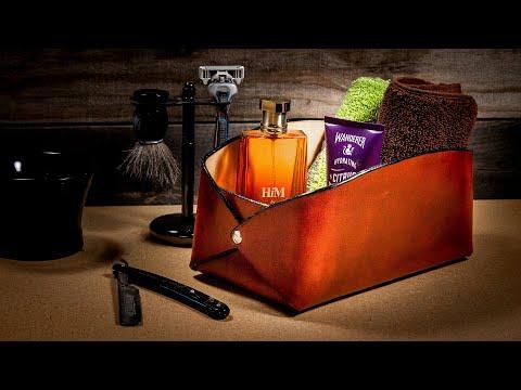 Making a Leather Bathroom Bag | Easy DIY Leather Storage Box