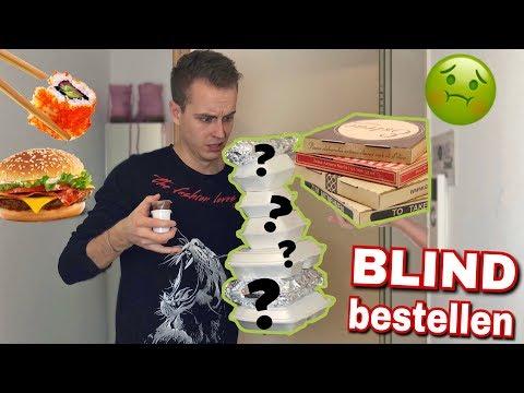 BLIND Essen beim Lieferservice bestellen .. 😲 | Julienco
