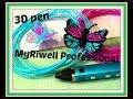 Review 3D pen MyRiwell Professional en Tekenpad, 3d vlinder