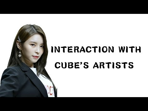 ELKIE INTERACTION WITH CUBE'S ARTISTS(PENTAGON,BTOB,GUANLIN,SEONHO,G-IDLE)