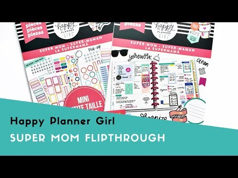 Happy Planner Girl™ Super Mom Sticker Flipthrough