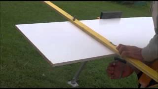 Couper une planche mélanine droite (bois, mélamine, tablette etc..)