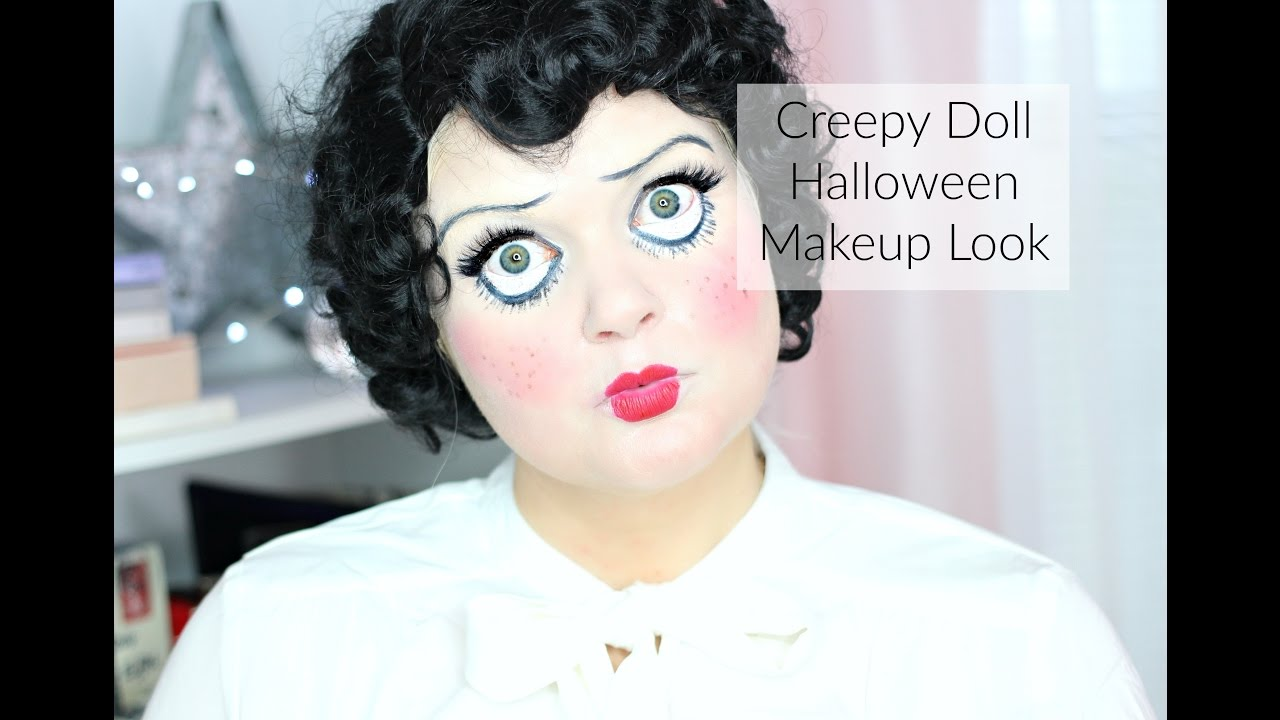 Creepy Doll Halloween Makeup Look w/ Faux Freckles | Pretty Scary ...
