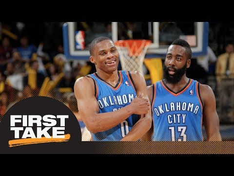 Did Thunder make a mistake trading James Harden and keeping Russell Westbrook? | First Take | ESPN