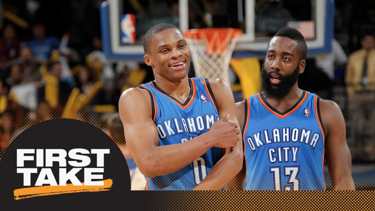 f6200833 Did Thunder make a mistake trading James Harden and keeping Russell  Westbrook? | First Take | ESPN