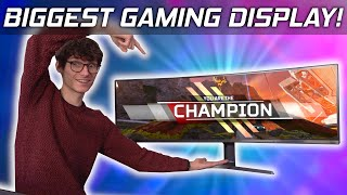 OK, This Gaming Monitor is RIDICULOUS Samsung CRG9 Monitor Review!