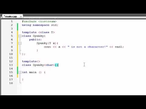 Buckys C++ Programming Tutorials - 61 - Template Specializations