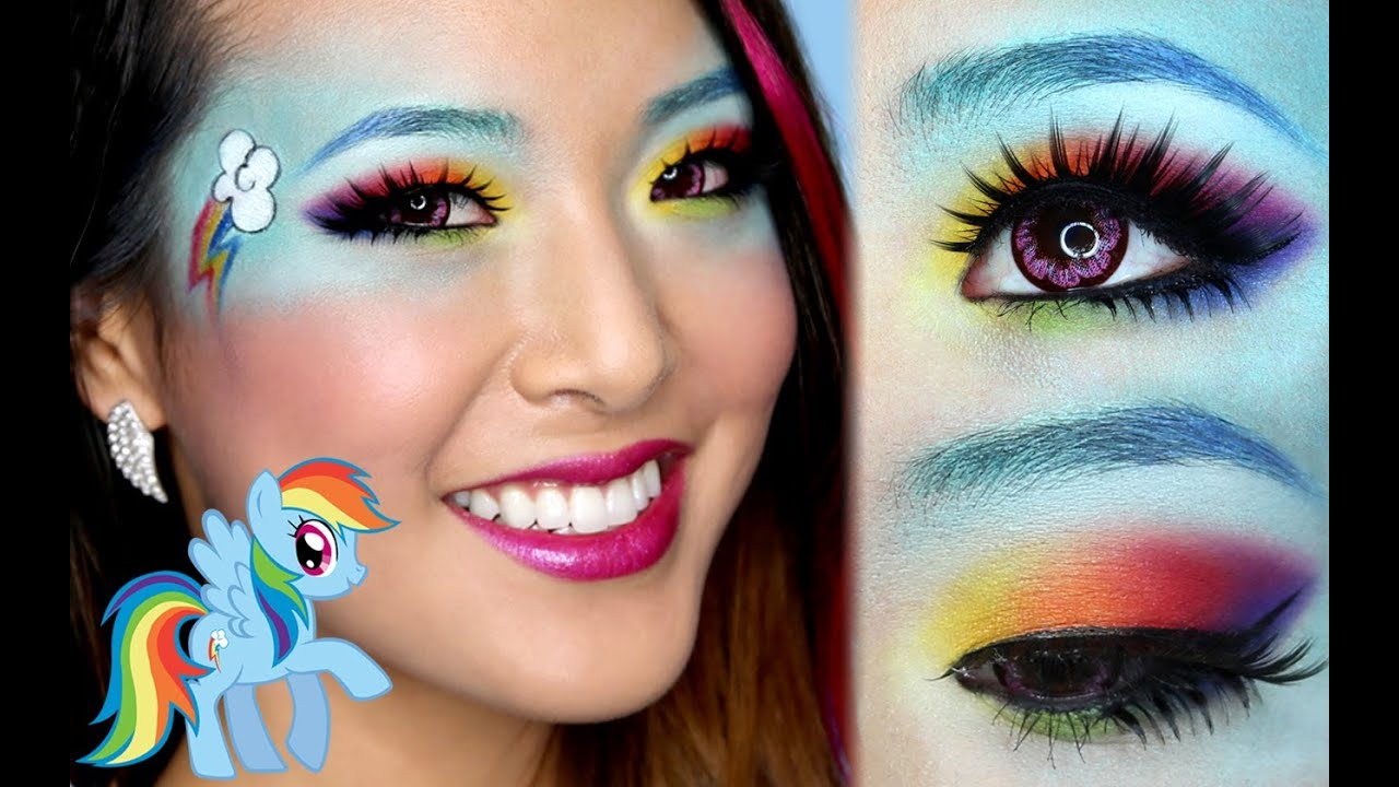 Rainbow Dash Makeup Tutorial