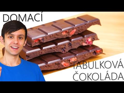 Snadný recept - domácí ovocná tabulková čokoláda