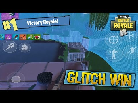 WINNING A GAME OF FORTNITE MOBILE BECAUSE OF A WALL HACK GLITCH!
