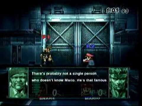 US Super Smash Bros Brawl Snakes Codec Mario YouTube