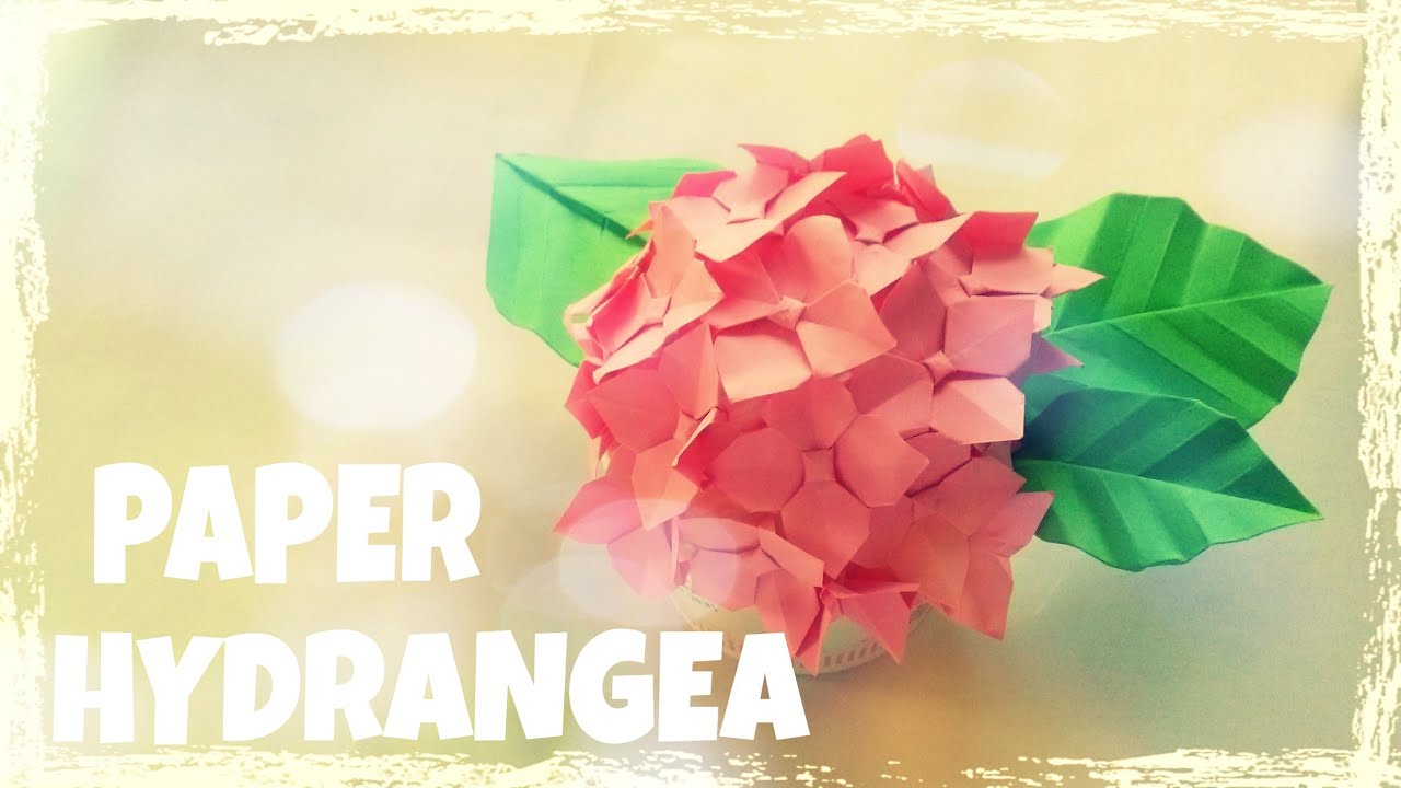 origami easy origami hydrangea flower tutorial youtube