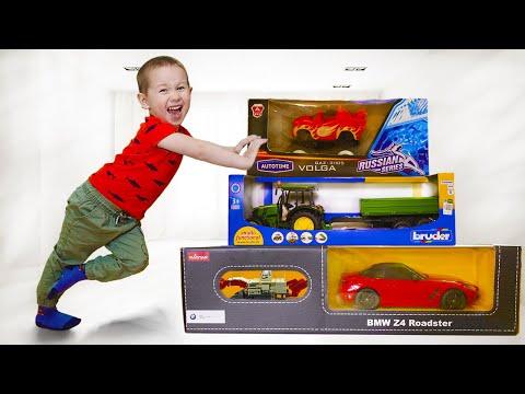 Малыш помогает маме и получает подарки - Новые Машинки!