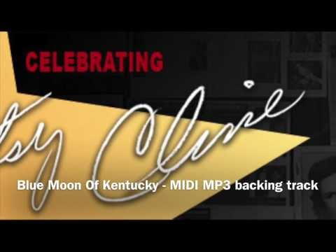 Blue Moon Of Kentucky (in the style of) Patsy Cline MIDI & MP3 backing track