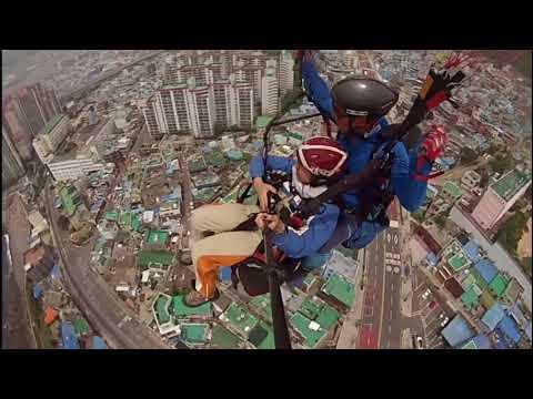 KOREA VLOG 2017 | VLOG #9 (PART2) Last Day in Busan - PARAGLIDING EXPERIENCE