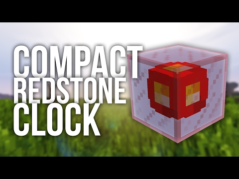 Most Compact Redstone Clock in Minecraft