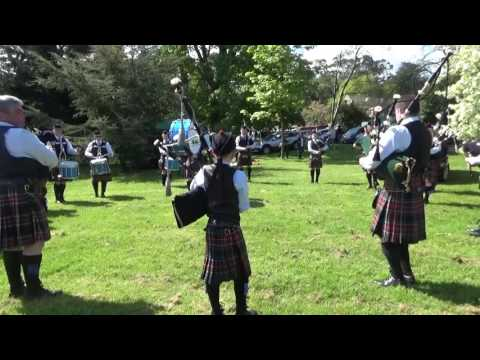 Cloughfin Pipe Band Warming Up @ Ards & North Down Pipe Band Championships 2016