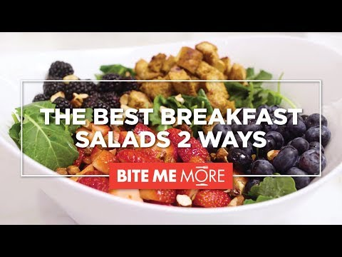 HEALTHY RECIPE Easy Breakfast Salad 2 Ways