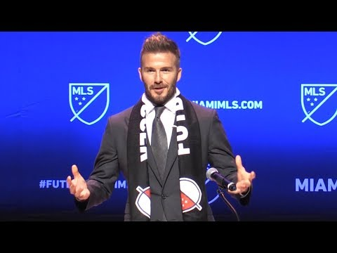 David Beckham Launches MLS Team In Miami  Full Press Conference