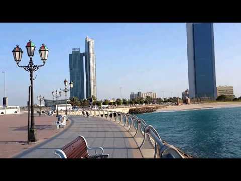 Abu Dhabi Corniche and Fishing spot near marina mall