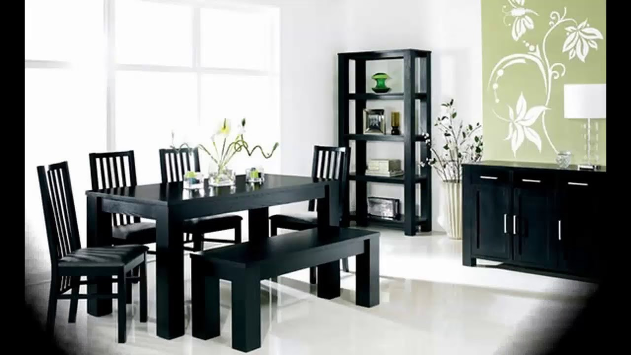 Ideas para decorar el comedor negro - YouTube