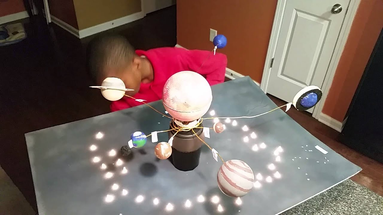 Jeremiah's Fourth Grade Solar System Project - YouTube