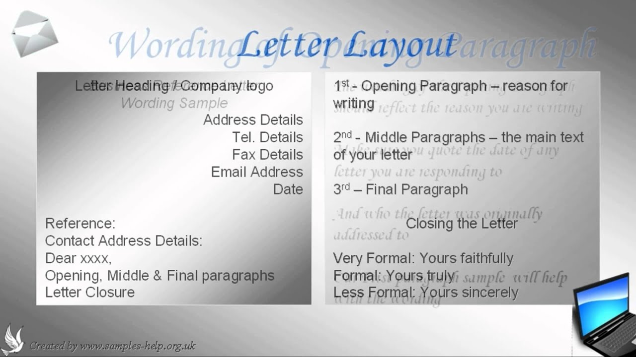 How to write a business reference letter youtube spiritdancerdesigns