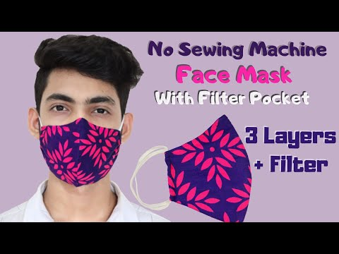 how-to-make-face-mask-with-filter-pocket-||-face-mask-sewing-tutorial---diy-fabric-face-mask