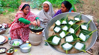 কাঁঠাল পাতায় কুলফি পিঠা | Bengali Village Famous Kathali Kulfi pitha by our Grandmothers