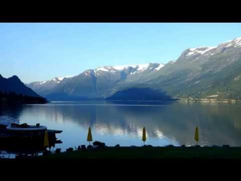 timelapse of Hardangerfjorden from ullensvang hotel