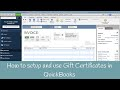 How to setup and use Gift Certificates in QuickBooks