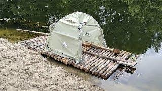 Плот из брёвен своими руками! raft do it yourself.