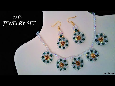 how-to-make-beaded-necklace-and-earrings-set-at-home