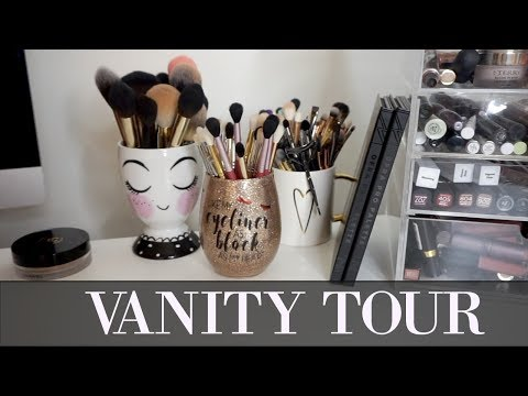 UPDATED VANITY TOUR | MAKEUP ORGANIZATION | YOUNG WILD AND POLISHED