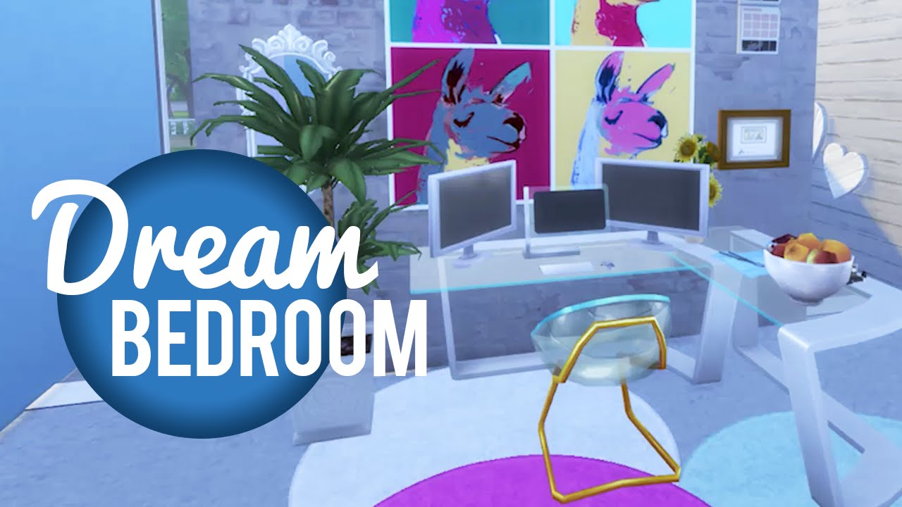 The Sims 4 Room Build  My Dream Bedroom  YouTube