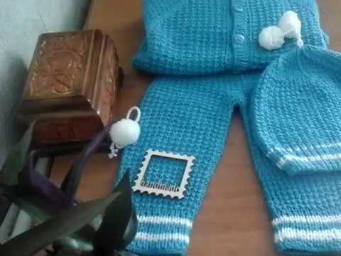 Связать костюмчик новорожденному мальчику спицами