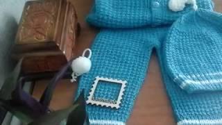 122. Как я вяжу костюмчики малышам...Конверт для новорожденного.