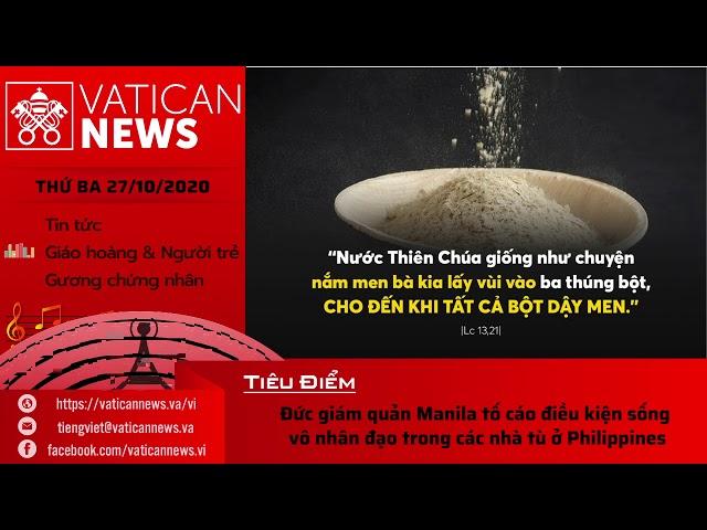 Radio: Vatican News Tiếng Việt thứ Ba 27.10.2020