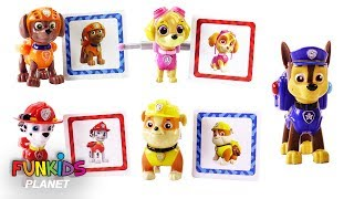 Paw Patrol Card Matching Game with Skye, Chase, Marshall & Rubble - Learning Colors Videos for Kids