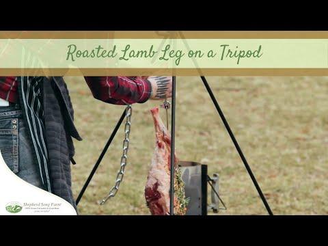 Roast A Whole Lamb Leg On A Tripod In An Outdoor Fire Pit | Recipe