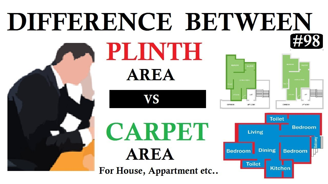Difference between Plinth Area and Carpet Area for House, Apartment etc