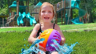 DONT GET SOAKED!! Adley reviews Ryan's World Splash Out pool toys with friends (mystery guest)