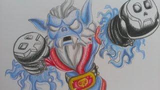 Drawing Night Shift from Skylanders Swap Force