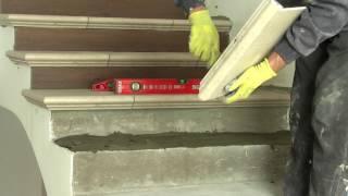 видео Керамическая плитка на ступени для лестниц